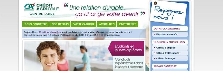 Le Crédit Agricole recrute en région Centre, Limousin et Poitou Charente