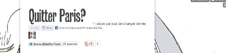Le blog Quitter Paris ?