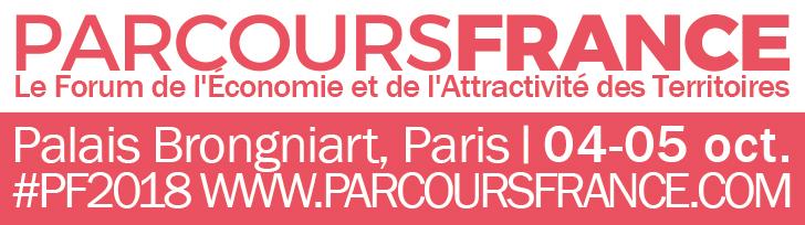 PARCOURS FRANCE 2018 – Palais Brongniart, 4-5 oct. – Le Forum de l'économie et de l'attractivité des Territoires